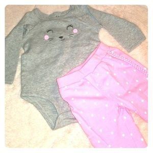 🌸long-sleeved body suit w/ matching pants🌸